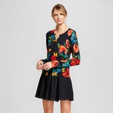 A New Day Women's Floral Printed Any Day Cardigan - A New Day Black