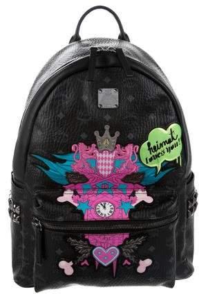 MCM Medium Heimat Loves You Backpack