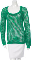 Torn By Ronny Kobo Open Knit Scoop Neck Sweater