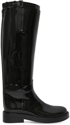 Ann Demeulemeester 40mm Patent Leather Riding Boots