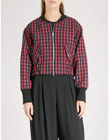 3.1 Phillip Lim Checked woven bomber jacket