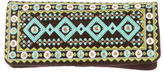 Tory Burch Embroidered Suede Clutch