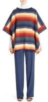 Chloé Women's Stripe Felted Wool & Cashmere Poncho