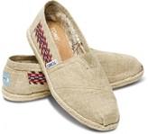 Toms Embroidered hemp women's classics