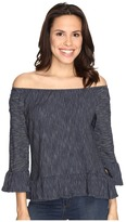 Sanctuary Juliana Off the Shoulder Top Women's Long Sleeve Pullover