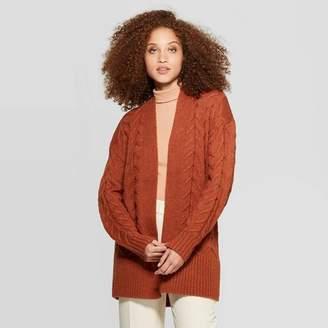 A New Day Women's Long Sleeve Rib-Knit Cuff Textured Cardigan Sweater