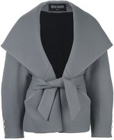 Balmain big shawl collar coat