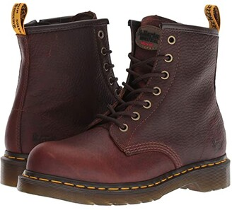 Dr. Martens Work Maple Steel Toe Zip (Teak Industrial Bear) Women's Work Boots
