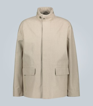 Loro Piana Linen jacket with hidden hood