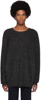 Blue Blue Japan Grey Long Hair Sweater