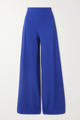 Roland Mouret Uppingham Crepe Wide-leg Pants - Blue