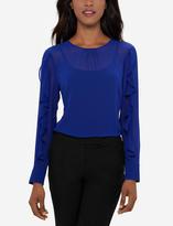 The Limited Eva Longoria Ruffled Sleeve Blouse