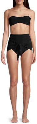 Norma Kamali Hi-Rise Tie Bikini Bottoms