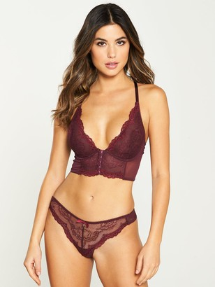 Gossard Superboost Lace Deep V Bralet- Fig