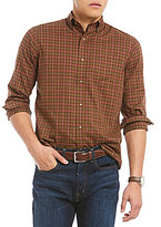 Daniel Cremieux Plaid Fine Twill Long-Sleeve Woven Shirt