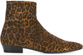 Saint Laurent leopard print boot - men - Calf Leather/Leather - 40