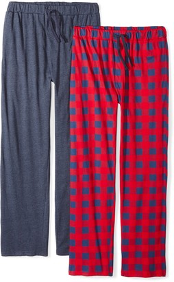 Private Label The Slumber Project Men's 2 Pack Pants Pajama Set (Medium) - Oatmeal Heather Grey