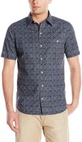 G.H. Bass Men's Short Sleeve Beach Prints Homespun Shirt In