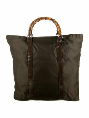 Gucci Vintage Bamboo Top Handle Bag Brown