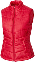 Cutter & Buck Red WeatherTec Double Major Quilted Vest - Plus Too