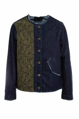Mr & Mrs Italy Denim And Florealace Jacket For Woman