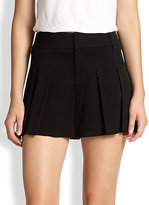 Alice + Olivia High-Waisted Pleated Shorts