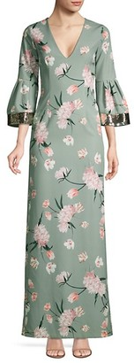 Sachin + Babi Floral Tower Gown