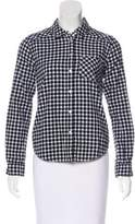 Paige Gingham Button-Up Top