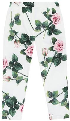 Dolce & Gabbana Floral cotton pants