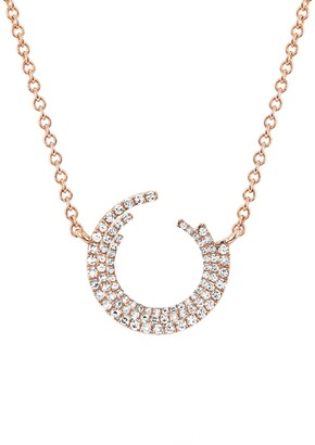 Ef Collection 14K Rose Gold Diamond Willow Necklace - 0.19 ctw