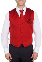 Buy Your Ties Men's Solid Formal Vest Necktie and Hanky Set