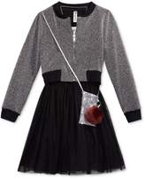 Beautees 3-Pc. Bomber Jacket, Dress and Purse Set with Necklace, Big Girls (7-16)