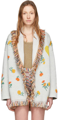 Alanui Off-White Cashmere I Love You California Cardigan