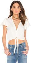L'Academie x REVOLVE The Ruffle Sleeve Shirt