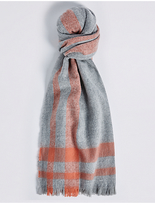 M&S Collection Soft Touch Border Scarf