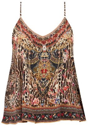 Camilla Liv A Little-print Silk-georgette Camisole - Animal
