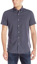 Nautica Men's Slim Fit Patterned Short Sleeve Shirt