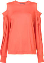 Alberta Ferretti cold shoulder jumper