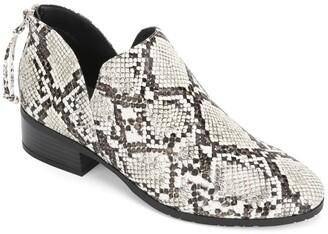 Kenneth Cole Reaction Side Skip Embossed Snake Skin Print Ankle Boot