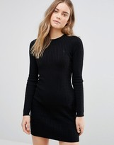 Jack Wills Cable Knit Sweater Dress