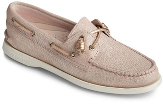 Sperry Top Sider Women's Boat Shoes ROSE - Rose Gold Vida Leather Boat Shoe - Women