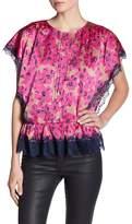 Juicy Couture Floral Lace Blouse