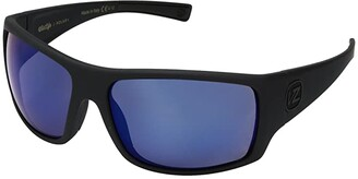 Von Zipper VonZipper Suplex Polarized (Black Satin/Wild Blue Flash Polar Plus) Fashion Sunglasses