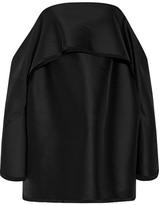 Dion Lee Off-the-shoulder Wool-blend Shantung Mini Dress - Black