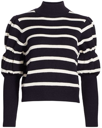 Derek Lam 10 Crosby Elani Puff-Sleeve Sweater