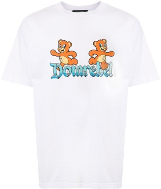 Dom Rebel logo care bear print T-shirt