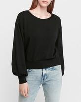 Express Banded Balloon Sleeve Sweatshirt