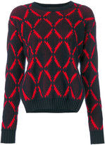Versace diamond print jumper