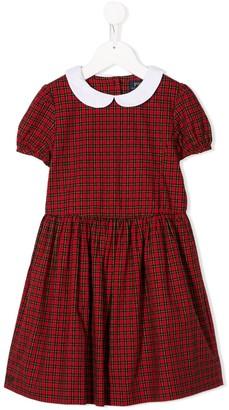 Ralph Lauren Kids short sleeve tartan dress