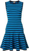 Michael Kors striped flared dress - women - Nylon/Polyester/Spandex/Elastane/Viscose - S